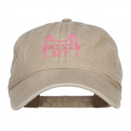 Hiss Off Embroidered Washed Cap