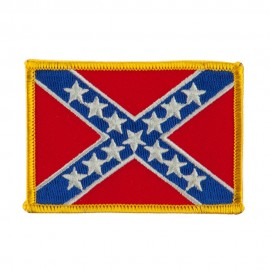 Flag Style Embroidered Patch