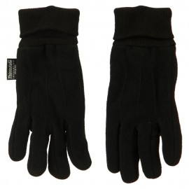 Fleece Glove with Knitted Sides