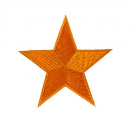 Flag Style Embroidered Patch - One Star