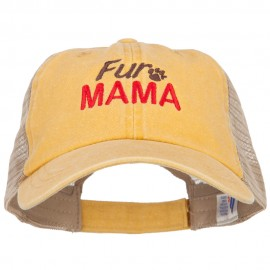 Fur Mama Embroidered Washed Twill Trucker Cap