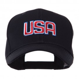 Flag Style Embroidered Patch Cap - USA