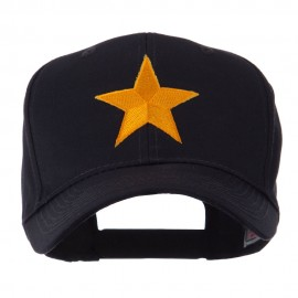 Flag Style Embroidered Patch Cap - One Star