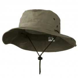 Extra Big Size Brushed Twill Aussie Hats - Olive