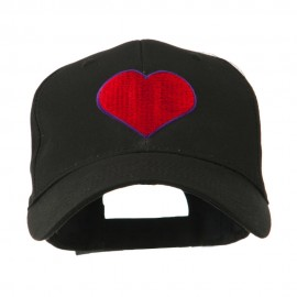 Filled Heart Symbol Embroidery Cap