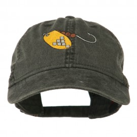 Fishing Spinner Embroidered Washed Cap