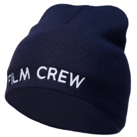 Film Crew Embroidered Short Beanie
