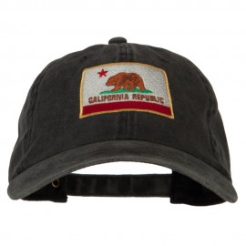 California State Flag Embroidered Washed Cotton Twill Cap