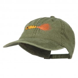 Fishing Jig Embroidered Washed Cotton Cap