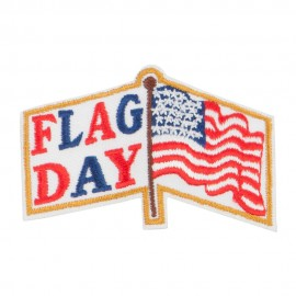 US Flag Day Embroidered Patches