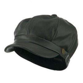 Faux Leather Spitfire Hat