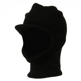 Brimmed Full Face Mask - Black