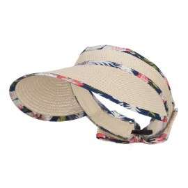 Floral Edge Roll Up Sun Visor