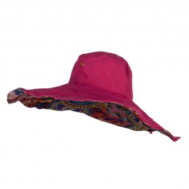 Floral Lining Crushable Wired Hat