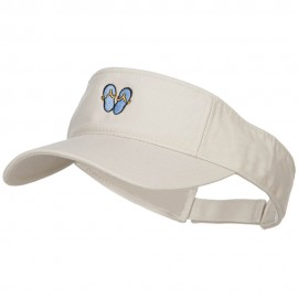 Mini Flip Flop Embroidered Cotton Washed Visor