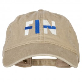 Finland FIN Flag Embroidered Unstructured Cotton Cap