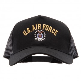 US Air Force Logo Embroidered Big Size Trucker Mesh Cap