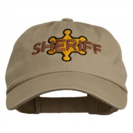 Sheriff Badge Embroidered Low Profile Cap - Khaki