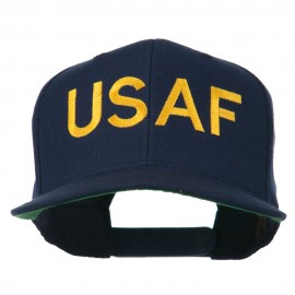 USAF Military Embroidered Flat Bill Cap - Navy