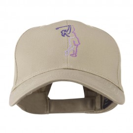 Female Golfer Outline Embroidered Cap