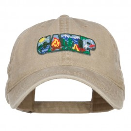 Camping Fun Patch Washed Cap
