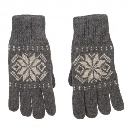 Wool Snowflake Design Glove