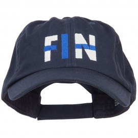 Finland FIN Flag Embroidered Low Profile Cap