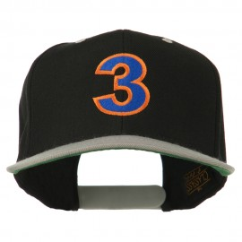 Arial Number 3 Embroidered Classic Two Tone Cap