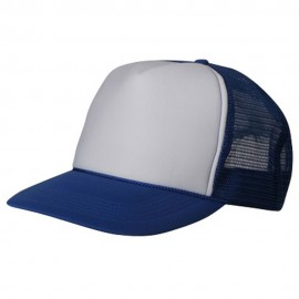 Summer Foam Mesh Trucker Cap - Royal White