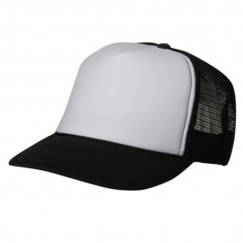 Summer Foam Mesh Trucker Cap - Black White
