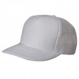 Summer Foam Mesh Trucker Cap - White