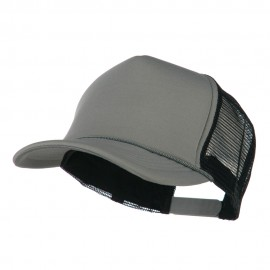 Summer Foam Mesh Trucker Cap - Grey Black