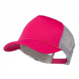 Summer Foam Mesh Trucker Cap - Magenta Grey