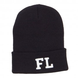 FL Florida State Embroidered Cuff Beanie