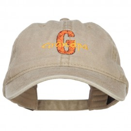 G for Grandpa Embroidered Washed Cap - Khaki