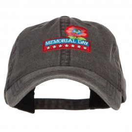 Memorial Day Flower Patched Washed Cap