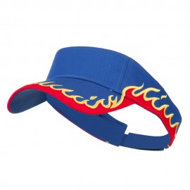 Cotton Twill Flame Visor - Royal Red Gold