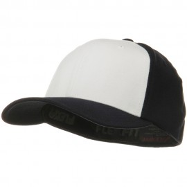 Two Tone Flexfit Performance Cap - Black White Black