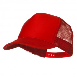 Youth Polyester Foam Golf Mesh Cap - Red