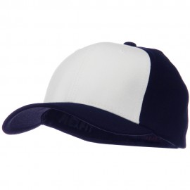 Two Tone Flexfit Performance Cap - Navy White Navy