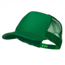 Youth Polyester Foam Golf Mesh Cap - Kelly