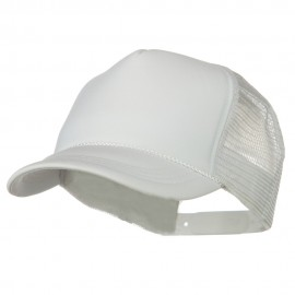 Youth Polyester Foam Golf Mesh Cap - White