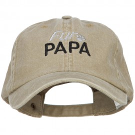 Fur Papa Embroidered Washed Cotton Twill Cap