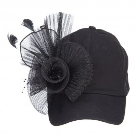 Ball Cap with Fascinator