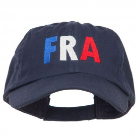France FRA Flag Embroidered Low Profile Cap