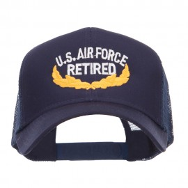 US Air Force Retired Embroidered Mesh Cap - Navy