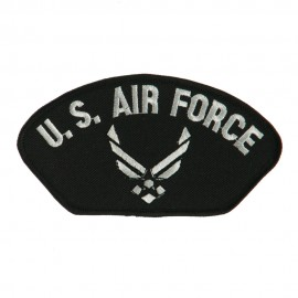Air Force Fan Shape Military Large Patch - White Air