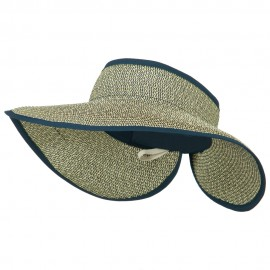 Women's UPF 50+ Tweed Roll Up Visor