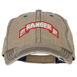 US Army 1st Ranger BN Embroidered Low Profile Cotton Mesh Cap