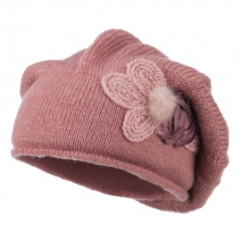 Ladies Flower Feather Beret